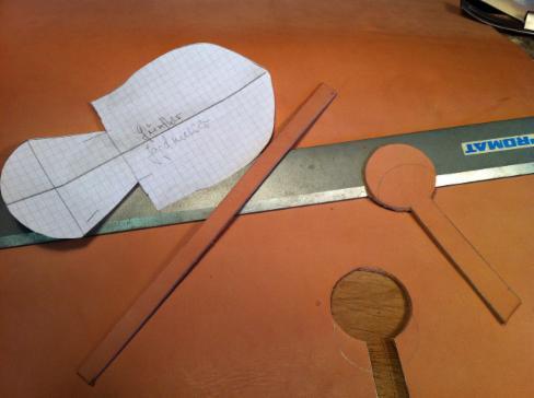 Bau einer Lederscheide